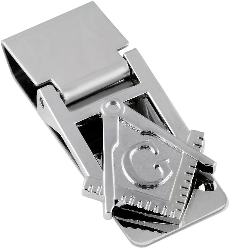 Masonic Silver Money Clip