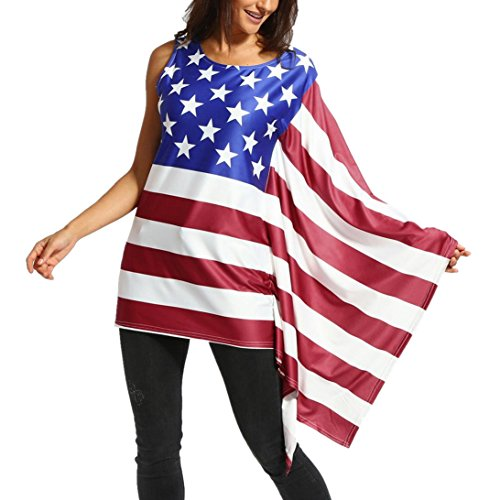 Hot 2018 USA American Flag Tank Tops