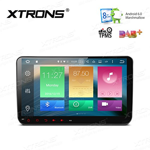 XTRONS Android 6.0 Octa-Core 64Bit 9 Inch Capacitive Touch Screen Car Stereo Radio DVD Player GPS CANbus Screen Mirroring Function OBD2 Tire Pressure Monitoring for VW Caddy Golf 2003-2013 by XTRONS