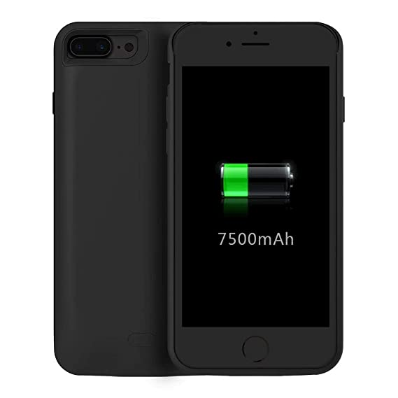 best service bb1b3 1cfd2 Amazon.com: Apple Iphone 7 Plus 7500 Mah Battery Charging Case W ...