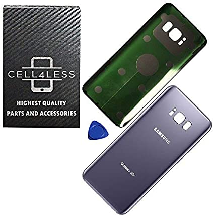 Gray OEM Back Glass Cover Battery Door Replacement For Samsung Galaxy S8 Plus