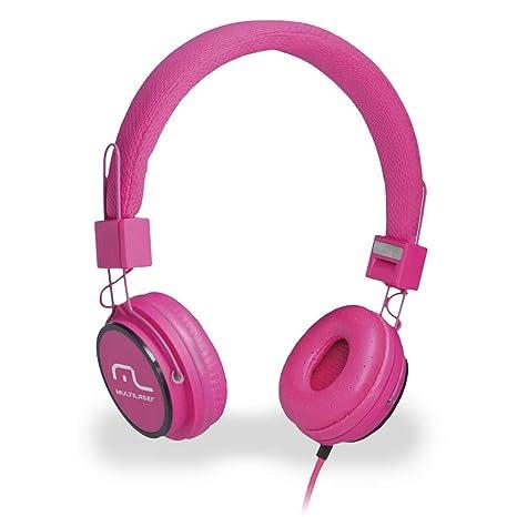 Fone de Ouvido Headphone Com Microfone Hi-fi Power Rosa Multilaser Ph088