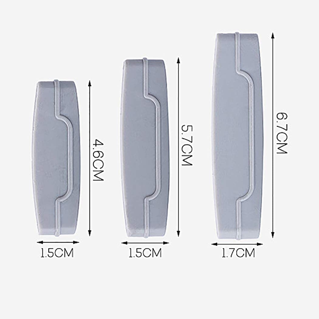 JUSTDOLIFE Exprimidor de pasta de dientes 6PCS Herramienta de exprimidor de tubos surtidos creativos Clip de pasta de dientes