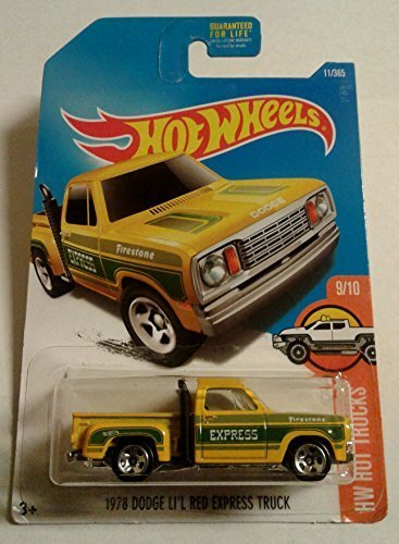 Hot Wheels, 2017 HW Hot Trucks, 1978 Dodge Li'l Red Express Truck [Yellow] 11/365 1978 Dodge Lil Red Express Truck