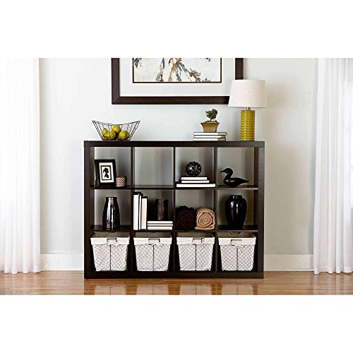 Better Homes and Gardens Cube Organizer, (12, Espresso) by Better Homes and Gardens