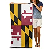 Shower Curtain pillow Flag Of Maryland Women's Beach Towel, Pool Towel,Sport Towel,Thick, Soft, Quick Dry, Lightweight, Absorbent