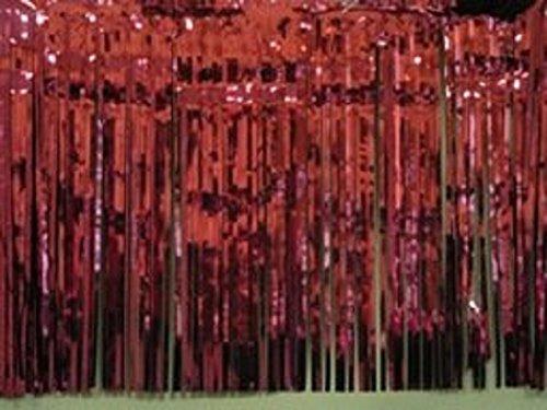 (Metallic burgundy Fringed table skirt Party decor 29