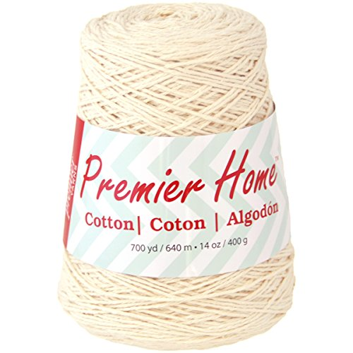 Premier Yarns 1033-02 Home Cotton Yarn - Solid Cone-Cream (White Cotton Cone Yarn)