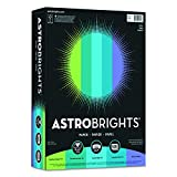 "Astrobrights Color Paper, 8.5"" x 11"", 24 lb/89 gsm,""Cool"" 5-Color Assortment, 500 Sheets (20274)"