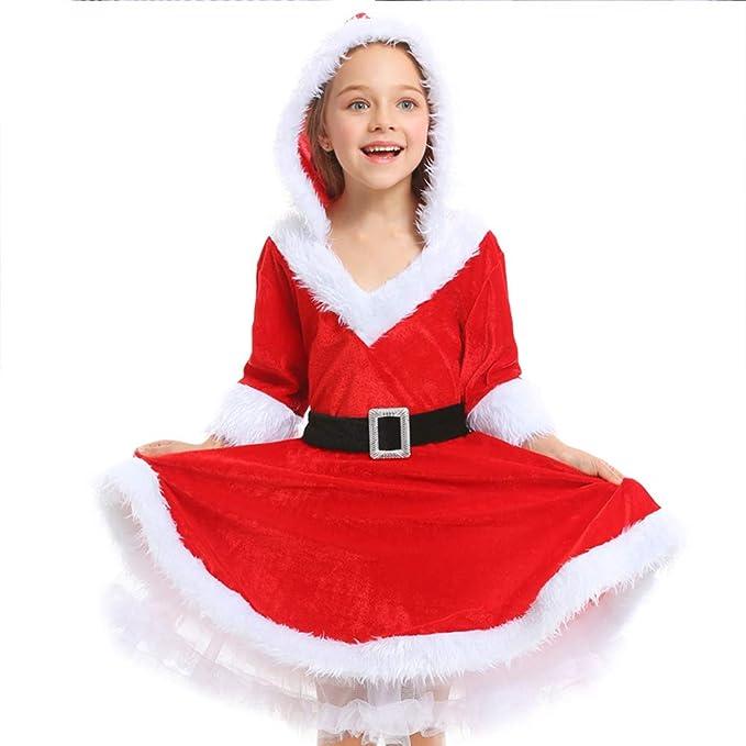 Amazon.com: CH&Q - Disfraz de la Sra. Claus para niña ...
