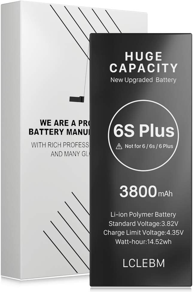 LCLEBM [3800mAh] Battery for iPhone 6S Plus, New 0 Cycle Higher Capacity Battery Replacement for iPhone 6S Plus,Only for iPhone 6S Plus Battery