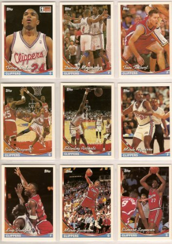 fan products of Los Angeles Clippers 1993-94 Topps Basketball Team Set (Series 1 & 2) Terry Dehere (RC), Danny Manning, Tom Tolbert, Mark Aguirre, Stanly Roberts, Ron Harper, Bob Martin, Mark Jackson, Gary Grant, Elmore Spencer, John Williams, Randy Woods, Loy Vaught