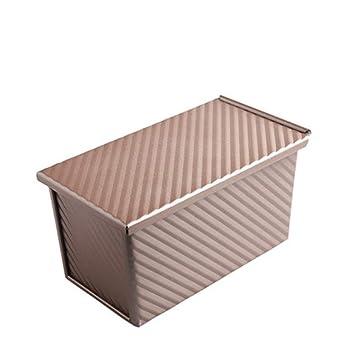 BEI-YI Caja de Pan Tostado con Tapa corrugada Molde de Pan Tostado para Hornear Horno de Caja con Herramientas para Hornear: Amazon.es: Hogar