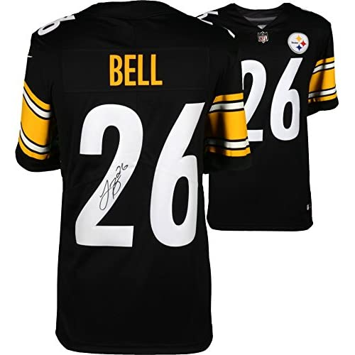 huge selection of f9a90 c2a71 Le'Veon Bell Pittsburgh Steelers Autographed Nike Black ...