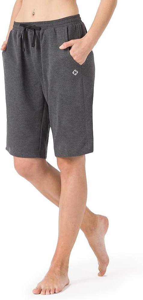 Traspirante e Comodo per Palestra e Allenamento Bermuda Fitness Donna con Due Tasche Grandi Casa e Ufficio NAVISKIN Pantaloncini Sportivi Donna Yoga