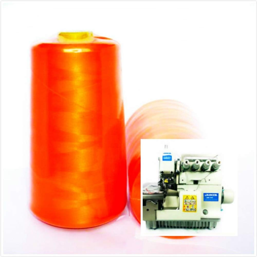 Laliva 3 pcs/lot Most Sewing Machine Thread 150D DTY overlock Wire Polyester Accessories 30000m - (Color: Orange) by Laliva