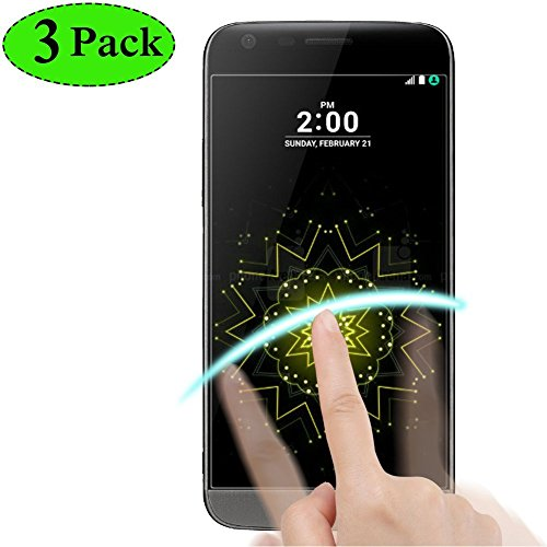 BONUM LG G5 Screen Protector, Hd Ultra Thin Scratch Resistant Anti Bubble Tempered Glass - 3 Piece