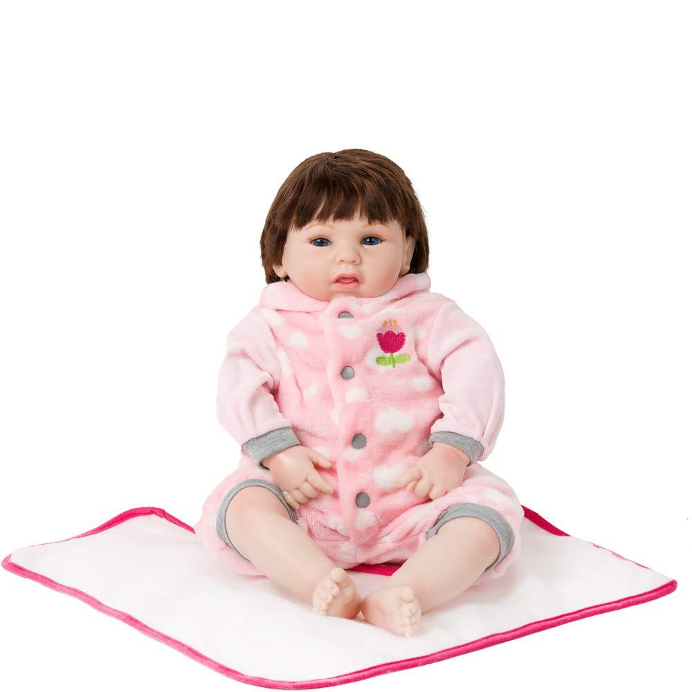 0736ddbbdfe4 Amazon.com: MeiMei Realistic Reborn Baby Doll Soft Vinyl 20