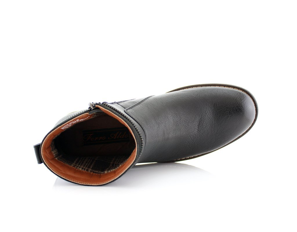 New Men's Classic Designer Zip Casual Chukka Ankle Boots, Black, 13 by Ferro Aldo (Image #3)