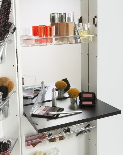Mirrotek Beauty Armoire Makeup Organizer With Vanity Table