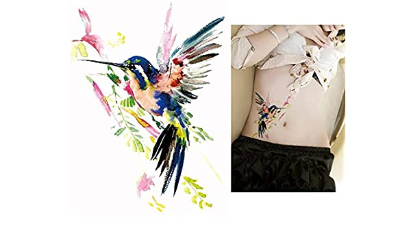 Agua Colores Tattoo pájaro colores Fake Tattoo una vez Tattoo para ...