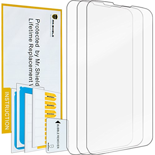 Mr.Shield for LG Lucid 3 VS876 Anti-Glare Screen Protector [3-Pack] with Lifetime Replacement (Lg Lucid 2 Phone Cases)