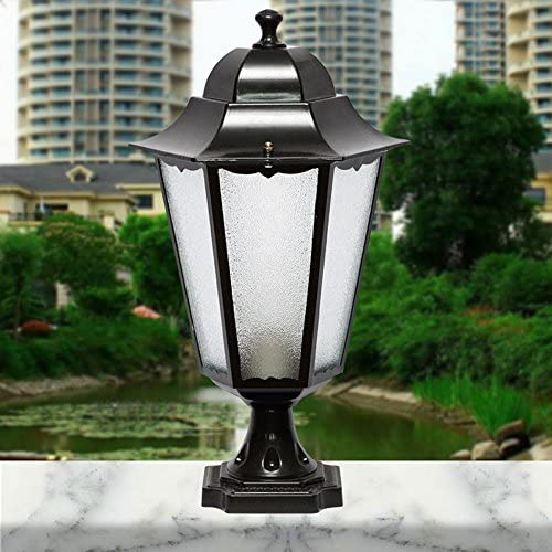 Eenvoudige Column Aluminium Landscape Garden Lights Villas Deur Koplampen Retro Outdoor Decor Lights E27 Waterdicht IP55
