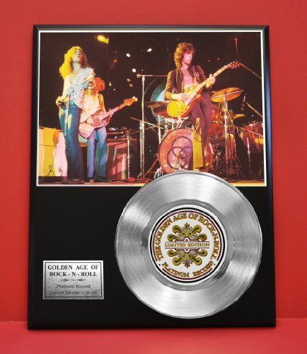 Led Zeppelin Limited Edition Rock N Roll Platinum Record Display - Award Quality Music Memorabilia - Gold Record Outlet