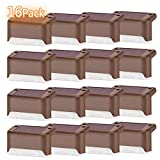 Solar Deck Lights Fence Lamp Led Solar Powered Waterproof Lighting 16 Pack Outdoor Security Lamps Warm White for Stairs,Landscape,Yard,Pathway and Garden