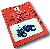 Allis Chalmers One-Ninety & Xt Series Iii Tractors Operators Owners Manual