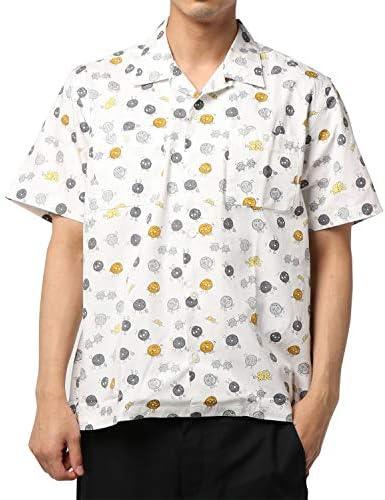 オリジナルプリント 直角半袖オープンカラーシャツ 882HD26342
