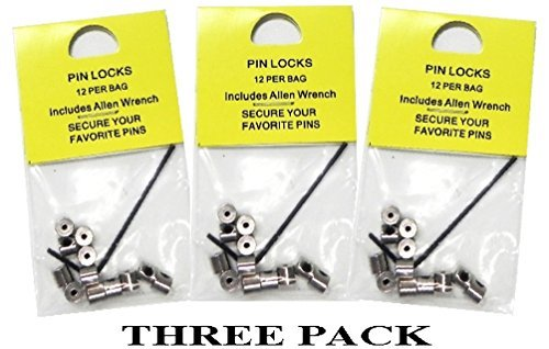 36 Locking Pin Keepers For Hat Lapel (Pin Saver)