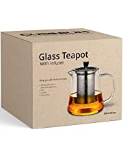 [32 oz, Gift Box] Stovetop Safe Teapot with Infuser For Loose Tea - Tea Diffuser Pot with Teapot Warmer Cozy and Bamboo Kettle Trivet