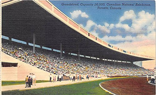 Grandstand, Canadian National Exhibition Toronto, Canada Old Vintage Horse Racing Postcard Post - National Post Canadian
