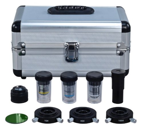 10X, 40X, 100X OMAX Interchangable Phase Contrast Kit with Three Phase Contrast Objectives