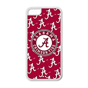 NCAA Alabama Crimson Tide Logo Red Hard Case Cover for iPhone 5c