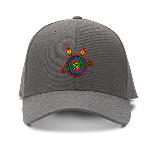 Archery Logo Embroidery Embroidered Adjustable Hat Baseball Cap Dark Gray