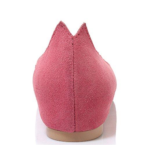 Scarpe Da Donna Basic In Pelle Scamosciata Con Sette Punte In Pelle Scamosciata Rosa