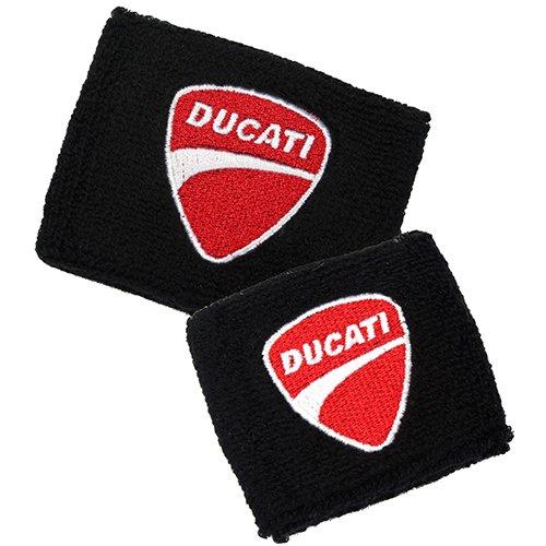 (Ducati Black Brake and Clutch Reservoir Sock Cover Set Fits 748, 749, 848, 848 Evo, 916, 996, 998, 999, 1598, 1198, ST2, ST3, ST4, Streetfighter, Hypermotard, Multistrada, Monster 1150)