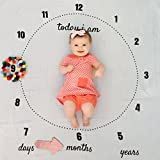 Baby Eat Your Art Out Milestone Blanket - Large 47 x 47 - Bamboo Muslin, Photo Prop for Newborns, Infants, Toddlers with Months, Days, Years - White