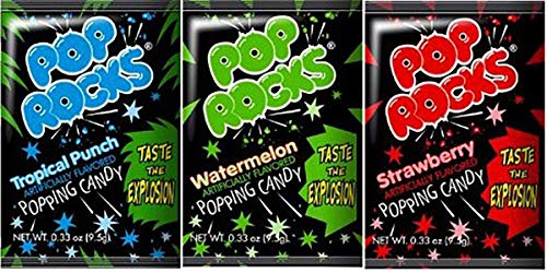 Pop Rocks Variety Pack! 18 Packets Total (6 of Each - Watermelon, Strawberry, Tropical Punch)]()