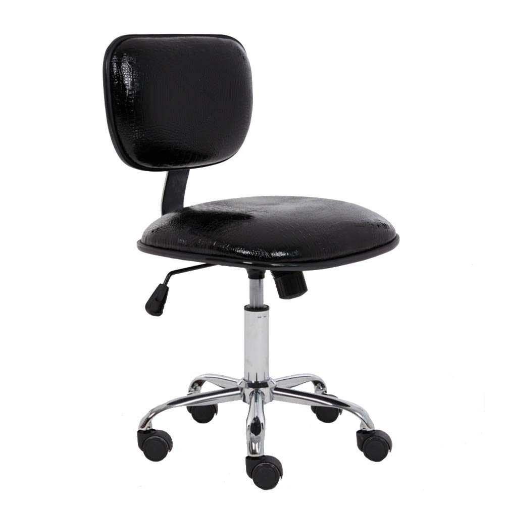 B ZZHF Swivel Chair, Computer Chair Household Company Staff Office Chair Student Dorm Room Study Small PU Chair Swivel Chair, 5 colors Lift Chairs, Backrest Chair (color   B)