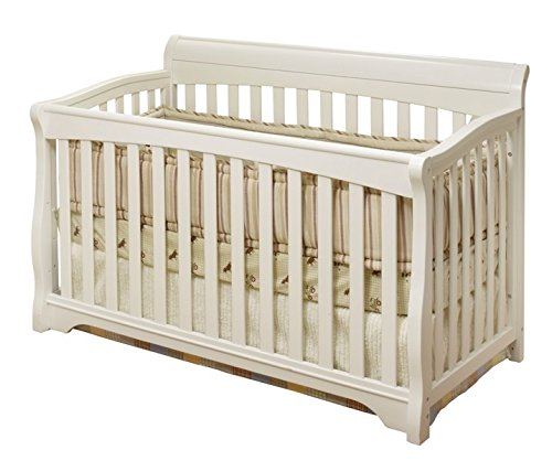 - Florence 4-in-1 Convertible Fixed-Side Crib, White, Fixed-side Crib Ensures Stability