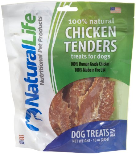 Natural Life Dog Treats, 100% Natural Chicken Tenders, 10 Ounces