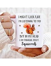 Squirrel Birthday Gift, Squirrel Cup, Squirrel Lover Gift, Cute Squirrel Gift, Squirrel Gift, Squirrel Mug, Funny Squirrel Gifts