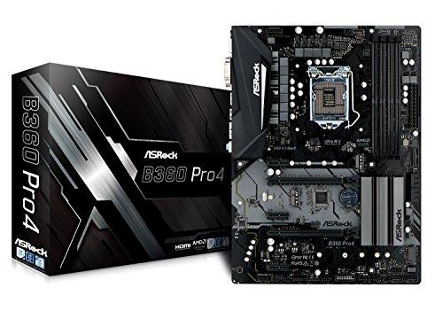 - ASRock B360 PRO4 LGA1151/Intel B360/DDR4/Quad CrossFireX/SATA3&USB3.1/M.2/GbE/ATX Motherboard