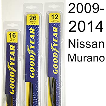 Nissan Murano (2009-2014) Wiper Blade Kit - Set Includes 26
