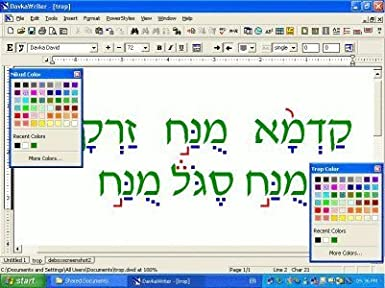 Amazon.com: DavkaWriter Hebrew English Word Processor 7-Advanced ...