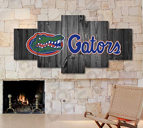 (5 Piece American Football College University Teams Art Decor Wall Poster (5 Piece Medium, Florida Gators))