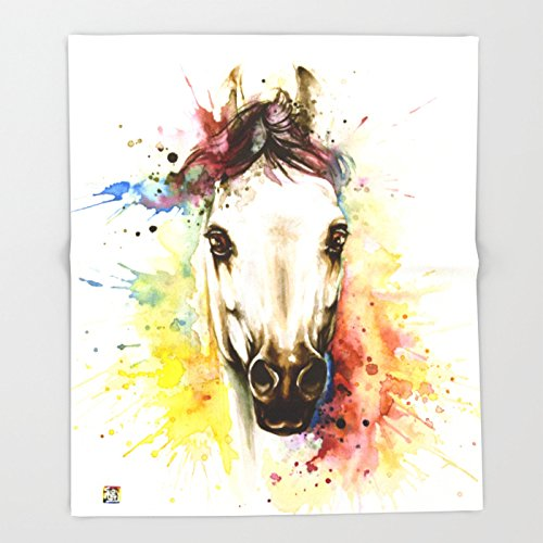 Society6 ''Into the mirror'' n°2 The horse Throw Blankets 88'' x 104'' Blanket by Society6